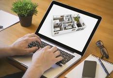 Het binnenlandse ontwerp van de computerdesktop Stock Foto