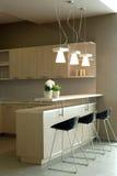 Het binnenlandse ontwerp van de elegante en luxeslaapkamer. Royalty-vrije Stock Fotografie