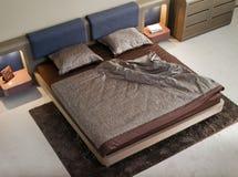 Het binnenlandse ontwerp van de elegante en luxeslaapkamer. Royalty-vrije Stock Foto's