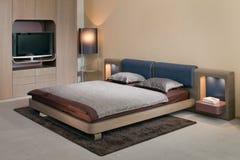 Het binnenlandse ontwerp van de elegante en luxeslaapkamer. Royalty-vrije Stock Afbeelding