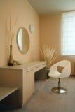 Het binnenlandse ontwerp van de elegante en luxeslaapkamer. Stock Foto's