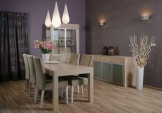 Het binnenlandse ontwerp van de elegante en luxewoonkamer. Stock Afbeeldingen