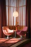 Het binnenlandse ontwerp van de slaapkamer. Elegant en luxe. Stock Fotografie