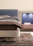 Het binnenlandse ontwerp van de slaapkamer. Elegant en luxe. Royalty-vrije Stock Foto's