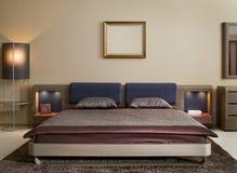 Het binnenlandse ontwerp van de slaapkamer. Elegant en luxe. stock foto's