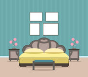 Woonkamerbinnenland met modern meubilair vector illustratie afbeelding 79545834 - Modern meubilair en oude ...
