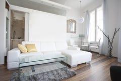 Het binnenlandse ontwerp van de woonkamer Stock Fotografie