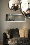 Het binnenlandse ontwerp van de woonkamer. Elegant en luxe. Stock Afbeeldingen