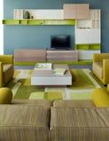 Het binnenlandse ontwerp van de woonkamer. Elegant en luxe. Royalty-vrije Stock Afbeelding