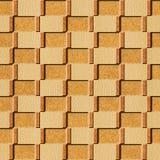 Het binnenlandse patroon van het muurpaneel - textuurcork royalty-vrije stock afbeeldingen