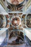 Het binnenlandse schilderen van St George ` s kerk in yuryev-Polsky stock fotografie