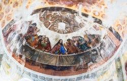 Het binnenlandse schilderen van St George ` s kerk in yuryev-Polsky royalty-vrije stock afbeeldingen