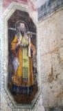 Het binnenlandse schilderen van St George ` s kerk in yuryev-Polsky stock foto
