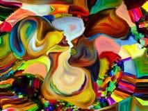 Het binnenleven van Kleurenafdeling Royalty-vrije Stock Afbeelding