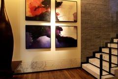 Het binnenontwerp van de milieukunst Stock Foto