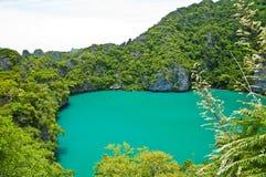 Het binnenOverzees, Marien Nationaal Park Angthong Stock Foto