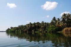 Het Binnenwater van Kerala Stock Foto