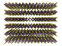 Het Bisulfide van het molybdeen Stock Afbeeldingen