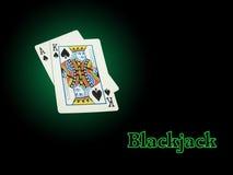 Het Blackjack van het neon Stock Foto's