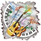 Het Blad en de Instrumenten van de muziek Stock Afbeelding