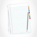 Het blad en het potlood van het document. Royalty-vrije Stock Afbeeldingen