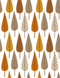Het blad naadloos patroon van de herfst vector illustratie