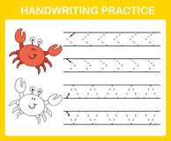 Het blad van de handschriftpraktijk vector illustratie