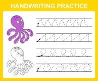 Het blad van de handschriftpraktijk royalty-vrije illustratie