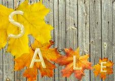 Het blad van de herfst voor verkoop Royalty-vrije Stock Fotografie
