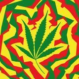 Het blad van de marihuana (vector) Royalty-vrije Stock Afbeeldingen