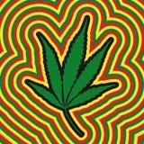 Het blad van de marihuana (vector) Stock Foto's