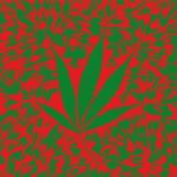 Het blad van de marihuana (vector) Royalty-vrije Stock Foto's