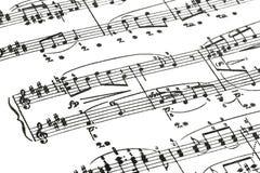 Het blad van de muziek stock afbeeldingen