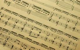 Het blad van de muziek Stock Foto's