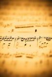 Het blad van de muziek Royalty-vrije Stock Afbeeldingen