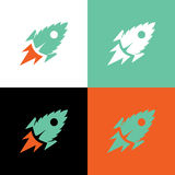 Het blad van de raketmunt, vectorillustratie Stock Foto