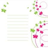 Het blad van document en vlinder. Royalty-vrije Stock Foto