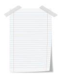 Het blad van het document vector illustratie