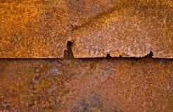Het blad van het ijzer met roest Stock Afbeeldingen