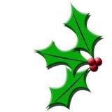 Het blad van Kerstmis royalty-vrije illustratie