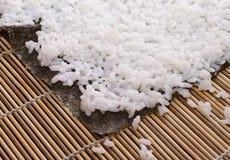 Het blad van Nori met rijst Royalty-vrije Stock Afbeelding