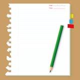 Het blad van Peper met potlood. Royalty-vrije Stock Afbeeldingen