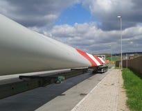 Het blad van windenergieinstallatie Stock Foto's
