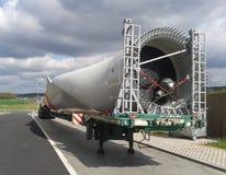 Het blad van windenergieinstallatie Stock Foto