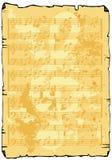 Het bladachtergrond van de muziek stock illustratie