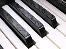 Het bladbezinning van de nota over pianosleutels Royalty-vrije Stock Afbeelding