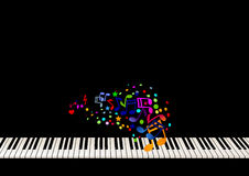 Het bladmuziek van de piano Royalty-vrije Stock Afbeelding