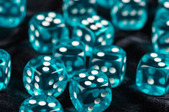 Het blauw dobbelt Stock Fotografie