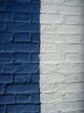 Het blauw en het wit van de muur Stock Foto's