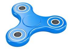 Het blauw friemelt Spinner, het 3D teruggeven Stock Afbeeldingen